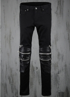Men-s-2015-Fashion-Zipper-Leather-Knee-Design-Slim-Jean-Pants-Cool-Costume-Rock-Black-Skinny